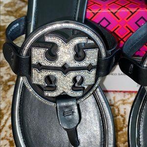 NOB Tory Burch bling embellished sandals